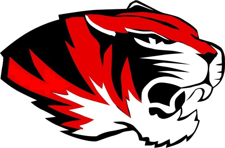 Red high school football logos